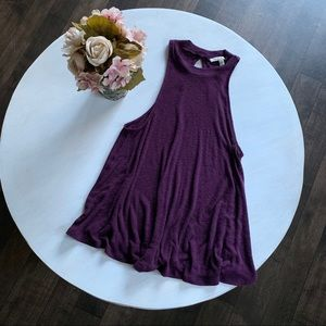*3for$22* Express high neck purple swing tank